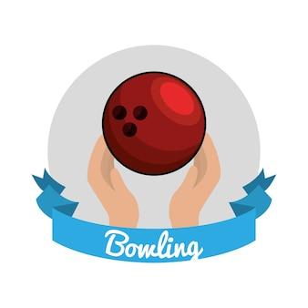 Icône du jeu de bowling emblème
