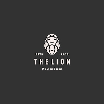 Icône du lion logo vector illustration