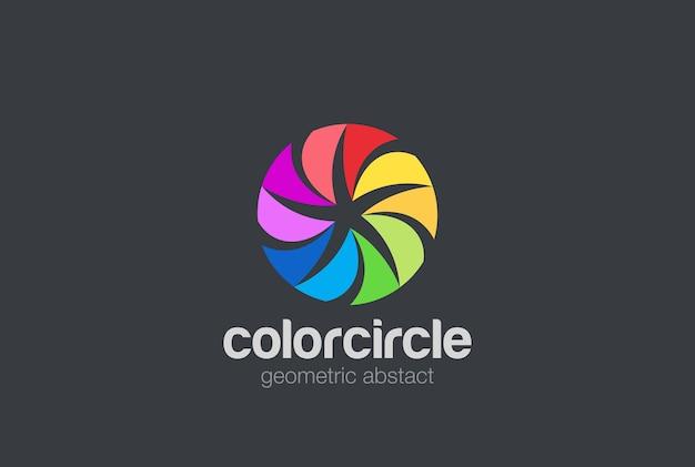 Icône du logo abstrait étoile cercle coloré.