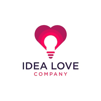 Icône du logo amour idée
