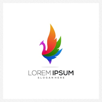 Icône du logo animal moderne