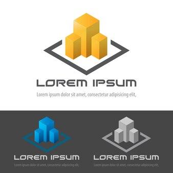 Icône du logo de bâtiment immobilier