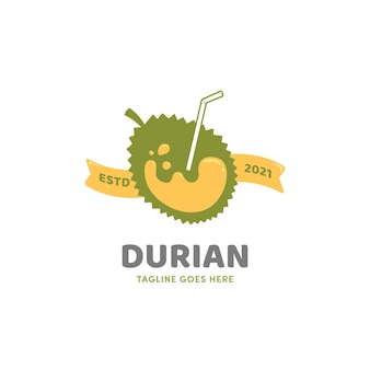 Icône du logo boisson jus de fruits durian smoothies