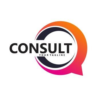Icône du logo de consultation