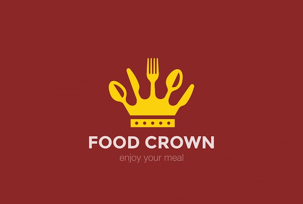 Icône du logo couronne alimentaire.
