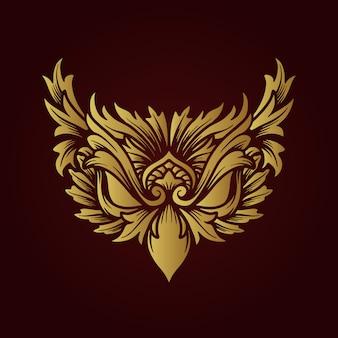 Icône du logo créatif illustration de conception oeil d'aigle