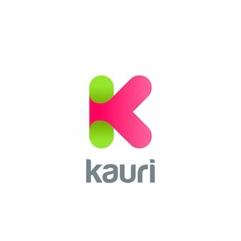 Icône du logo créatif lettre k.