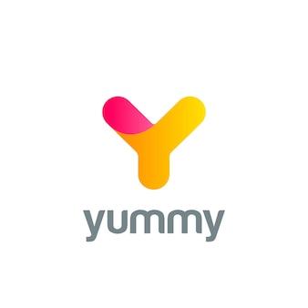 Icône du logo créatif lettre y.