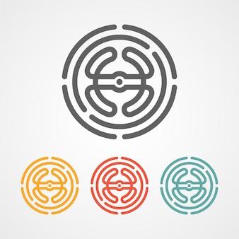 Icône du logo drone