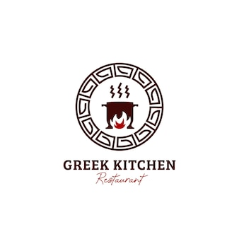 Icône du logo du restaurant cuisine grecque