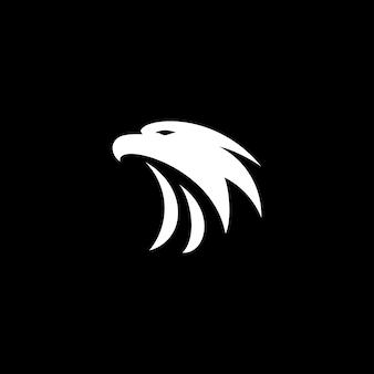 Icône du logo eagle design vecteur tête de faucon