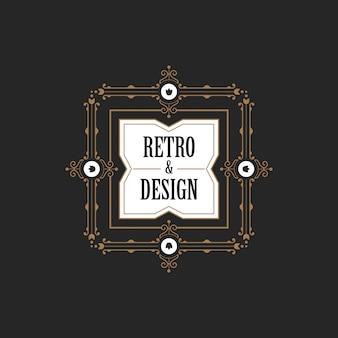 Icône du logo étiquette vintage badge.
