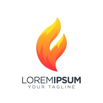 Icône du logo flamme