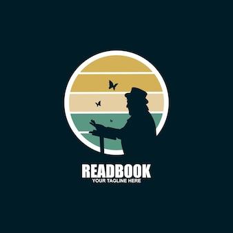 L'icône du logo de lecture vecteur isolé