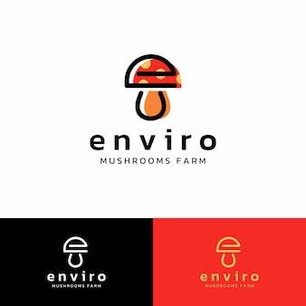 Icône du logo lettre e modèle de logo vectoriel champignon