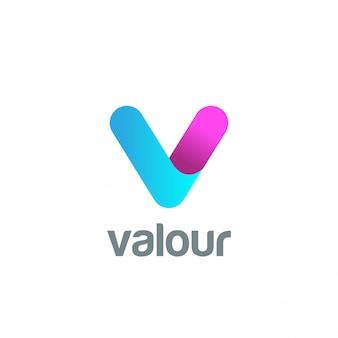 Icône du logo lettre v.