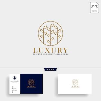 Icône du logo ligne cosmétique beauté