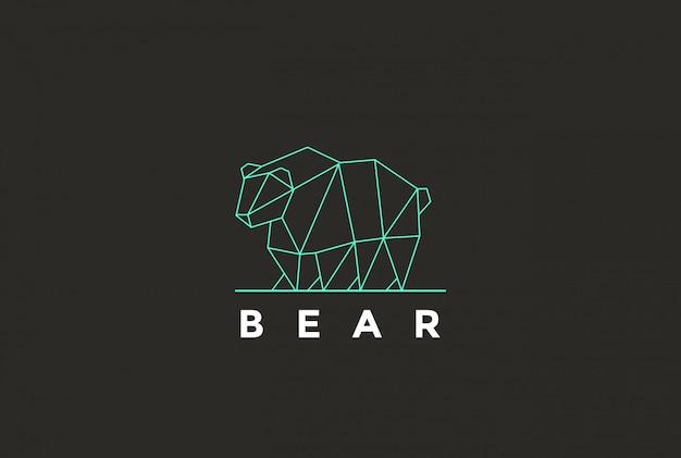 Icône du logo ours polygonal.