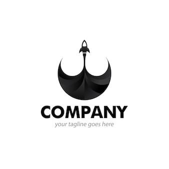 Icône du logo rocket black