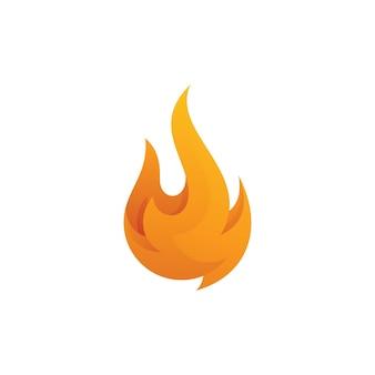 Icône du logo vectoriel flamme feu dégradé moderne