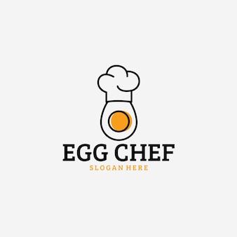 Icône du logo vintage chef oeuf