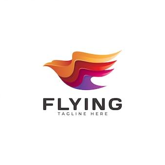 Icône du logo volant moderne aile aigle