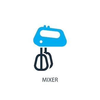 Icône du mélangeur. illustration d'élément de logo. conception de symbole de mélangeur de la collection 2 colorée. concept de mélangeur simple. peut être utilisé dans le web et le mobile.