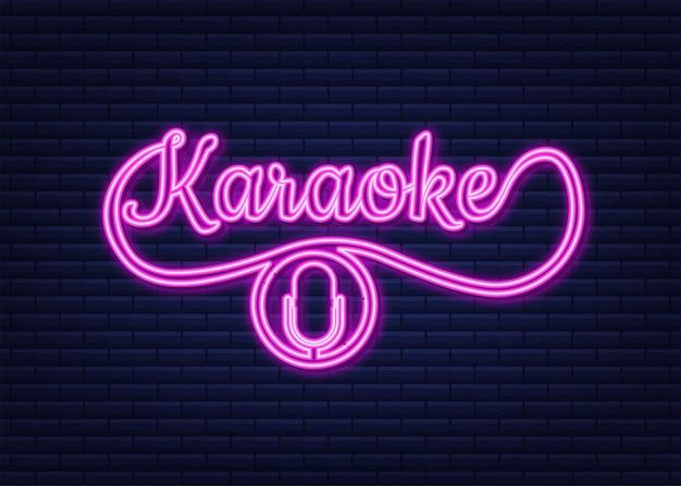 L'icône du microphone bannière abstraite avec karaoké celebration party