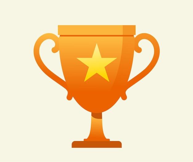 Icône du trophée du gagnant. le vecteur du trophée d'or est un symbole de victoire dans un événement sportif.