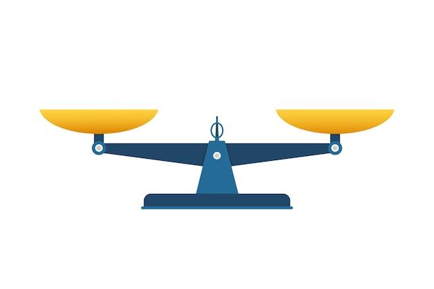 Icône d'échelles. balance isolé sur fond blanc. illustration vectorielle