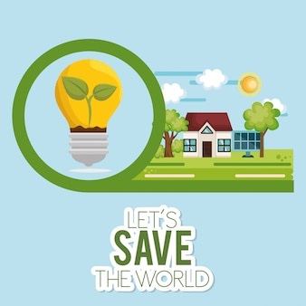 Icône d'écologie énergie ampoule