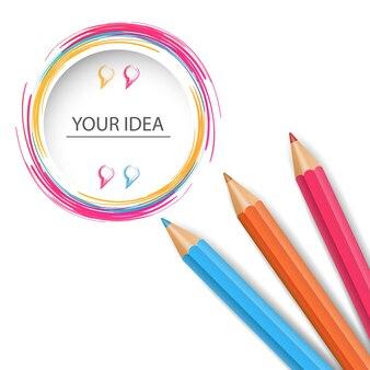 Icône de l'éducation au crayon