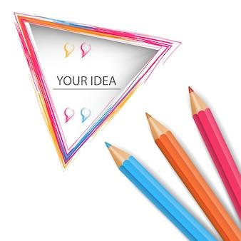 Icône d'éducation de crayon.