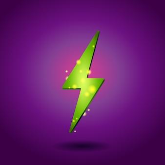 Icône d'électricité brillant.
