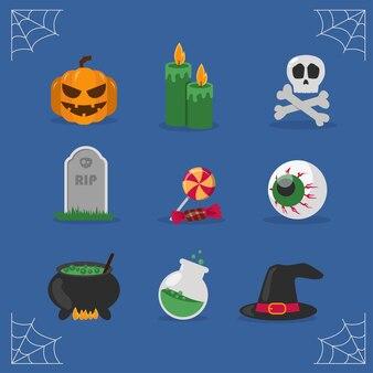Icône d'élément de design plat halloween