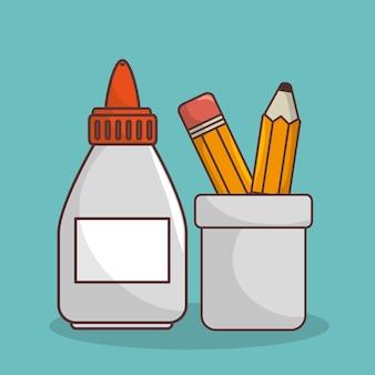 Icône d'éléments isolés de l'école