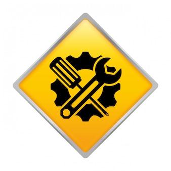Icône de l'emblème du service de réparation technique