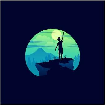 Icône enfant lune