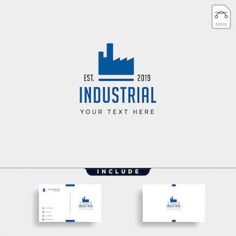 Icône d'engrenage usine logo design vecteur industriel isolé