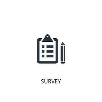 Icône d'enquête. illustration d'élément simple. conception de symbole de concept d'enquête. peut être utilisé pour le web et le mobile.