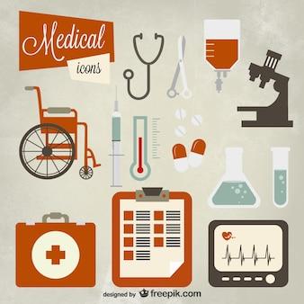 Icône ensemble médicale
