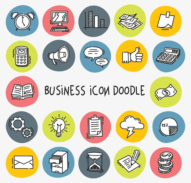 Icône de l'entreprise dans le style doodle