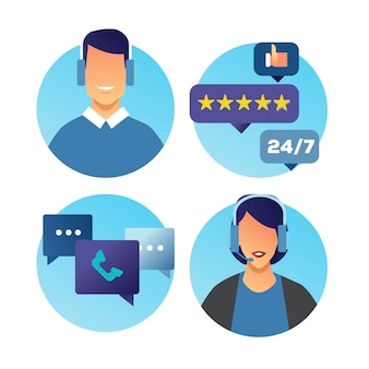 Icône de l'équipe de support client