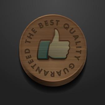 Icône d'étiquette de meilleure qualité et garantie avec image vectorielle de conception de style rétro vintage