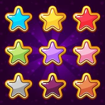 Icône étoiles actif 2d pour jeu d'icônes de jeu.