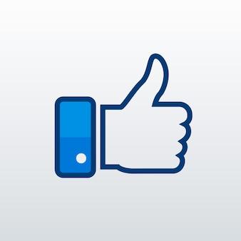 L'icône facebook like