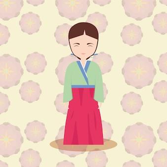 Icône de femme asiatique