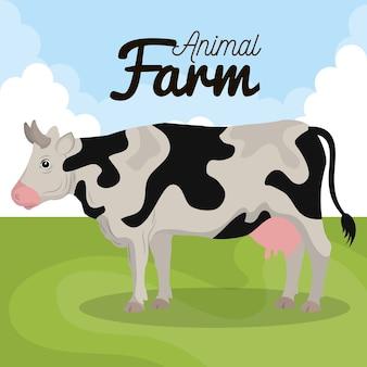 Icône de ferme des animaux vache