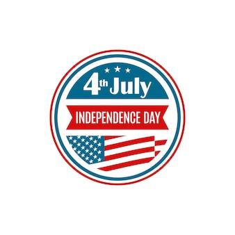 Icône de la fête de l'indépendance des états-unis.