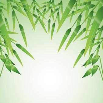 Icône de feuilles de bambou. décoration de plantes de la nature